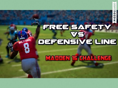 Team of SAFETIES vs DEFENSIVE LINE -  Madden16 Challenge!