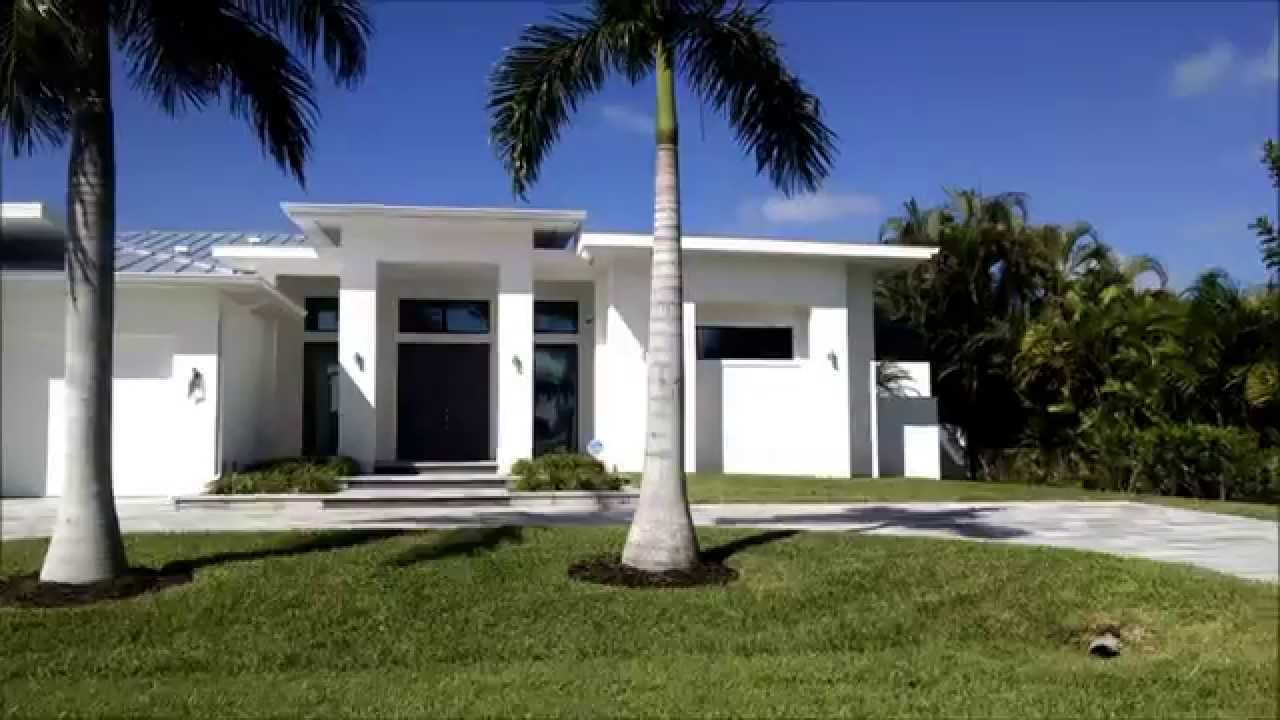 Contemporary homes in cape coral florida youtube for Modern houses in florida