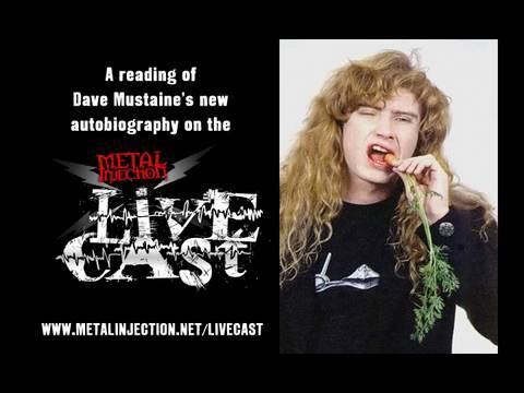 """DAVE MUSTAINE Autobiography Reading by """"Dave Mustaine"""""""