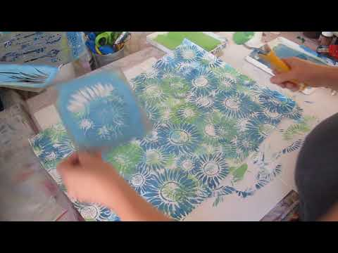 Stencils - layering pattern and colour - part 3