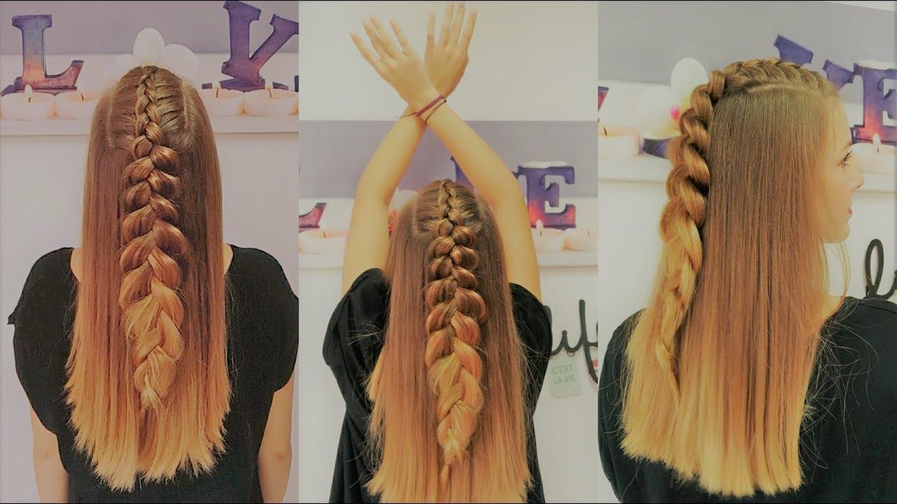 Peinados con pelo suelto y trenzas