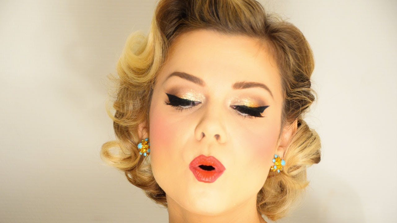 makeup and hair pin up Vintage