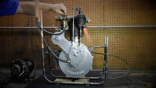1912 Excelsior Motorcycle Engine - Breathing Fire For The First Time In Over 7 Decades!
