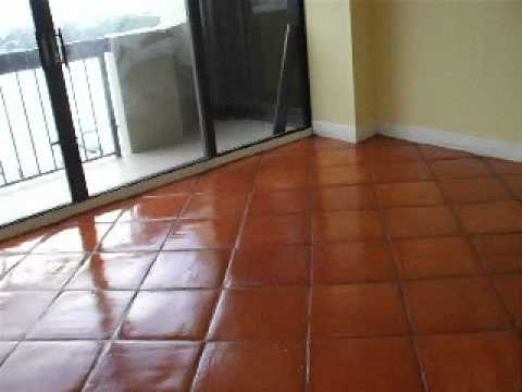 Finished Mexican Terra Cotta Floor Refinish - YouTube