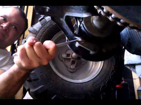 Cat 6 Jack Wiring Diagram How To Adjust Tighten Drive Chain Trail Boss 330 Youtube