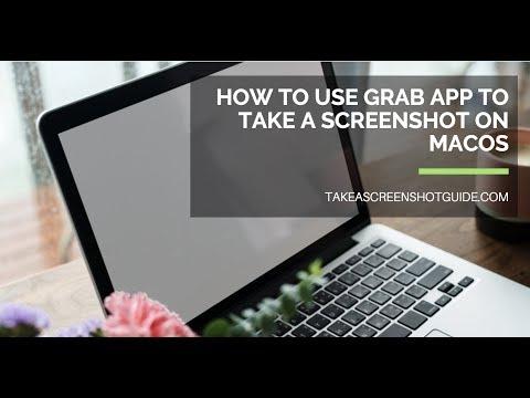 How to use Grab app to take a screenshot on Mac OS X