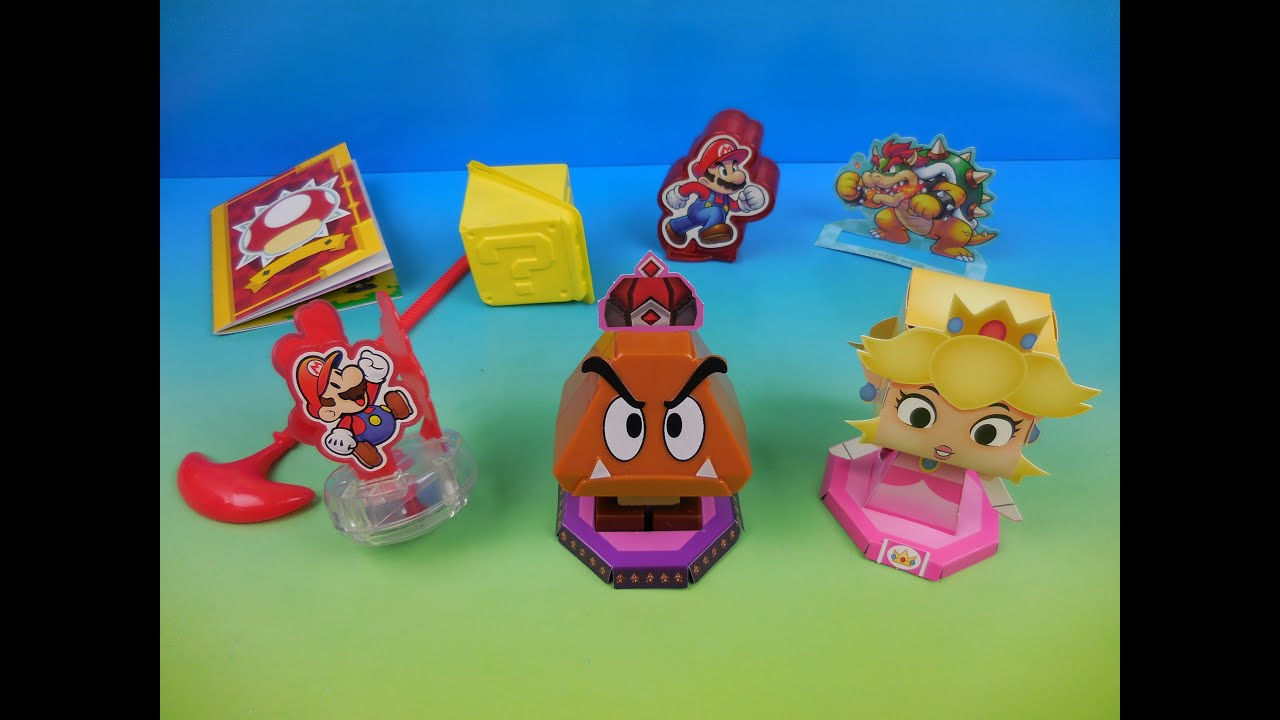 2016 Nintendo Mario And Luigi Paper Jam Set Of 5 Sonic Drive In Kids Meal Toys Video Review