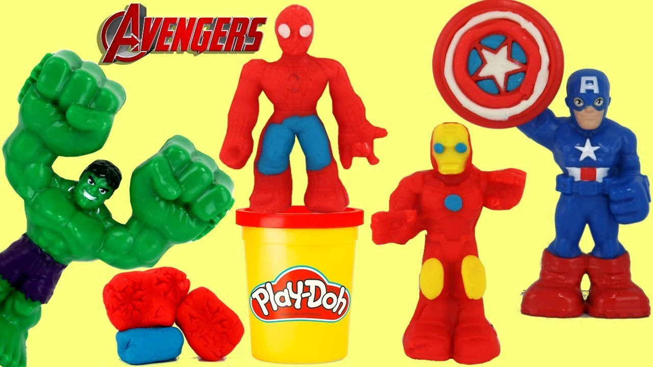 Download Play-doh Marvel Avengers Superhero Tools, Molds with Ironman, Spiderman