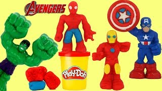 Play-doh Marvel Avengers Superhero Tools, Molds with Ironman, Spiderman