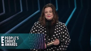 Melissa McCarthy Speaks Her Mind While Accepting Icon Award | E! People's Choice Awards