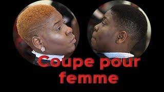 Coupe de cheveux court pour femme noire || Comment faire || tutoriel