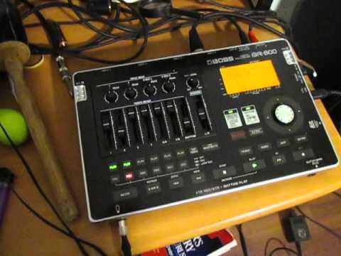 recording using digital recorder Boss BR-800