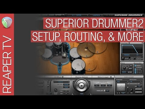 How To Configure & Use Toontrack Superior Drummer 2 with Reaper 5 - 동영상