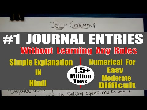 HOW TO MAKE JOURNAL ENTRIES Without Learning Any Rule in hindi  By JOLLY Coaching