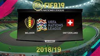 FIFA 19 Belgium Vs Switzerland | Uefa Nations League | PS4 Full Match