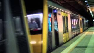 Sydney commuter train - Mascot station. Trains in Australia.