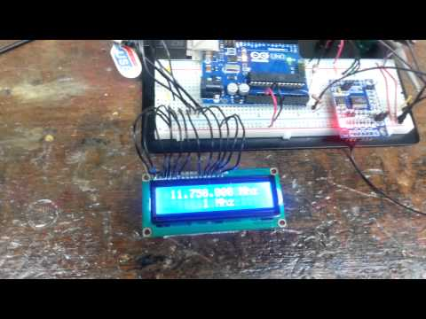 Arduino based VFO with AD9850 DDS