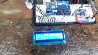 Repeat youtube video Arduino based VFO with AD9850 DDS