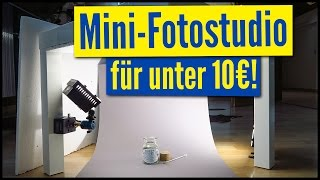MINI-FOTOSTUDIO für Produktfotos für UNTER 10€! 😱💰 | Aufnahmetisch für Produktfotografie | DIY