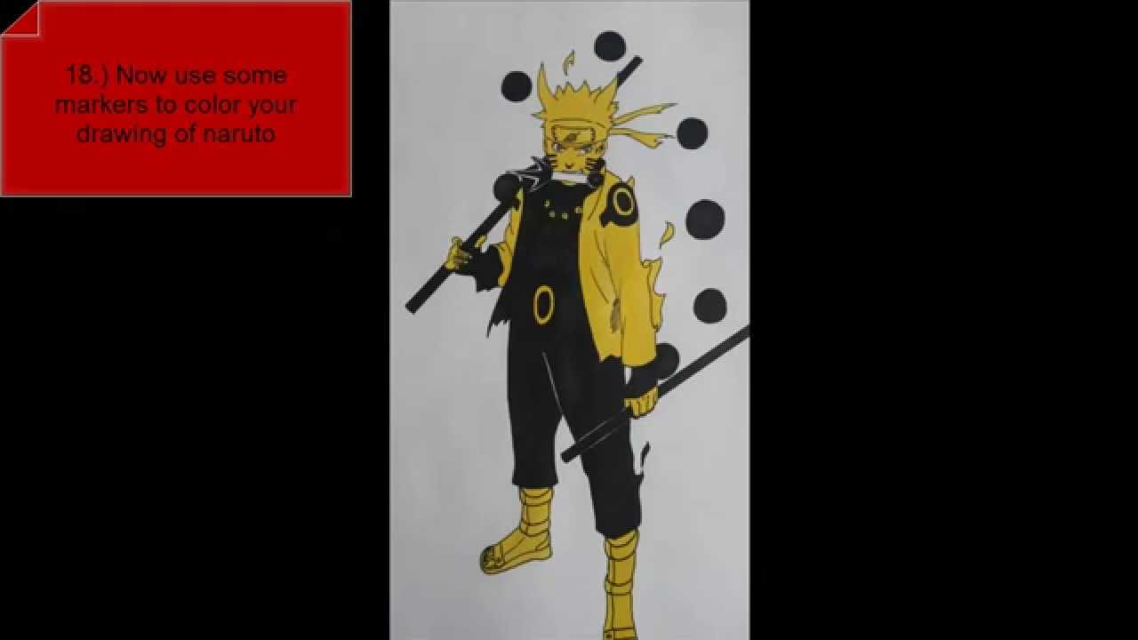 how to draw naruto kcm 3 rikudou sennin step by step full
