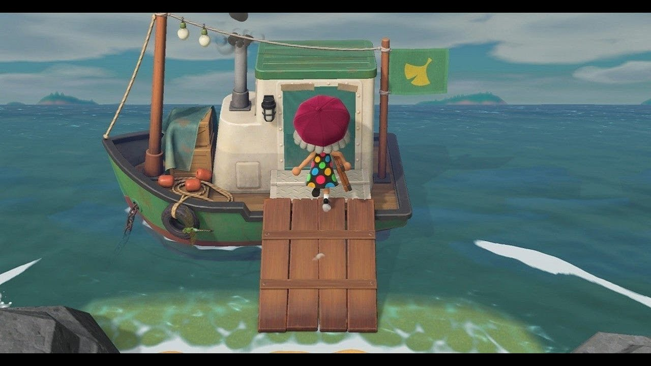 How To Get Inside Jolly Redd S Boat In Animal Crossing New Horizons If Its Locked Youtube