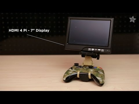 Personal Xbox Monitor - 3D Printed Game Controller Mount