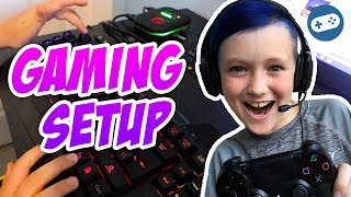 Liam's New Gaming Room Setup and Roblox House Tour!