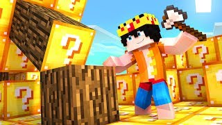 Minecraft PERO el mundo entero es de LUCKY BLOCKS!! 😱 (Mi...
