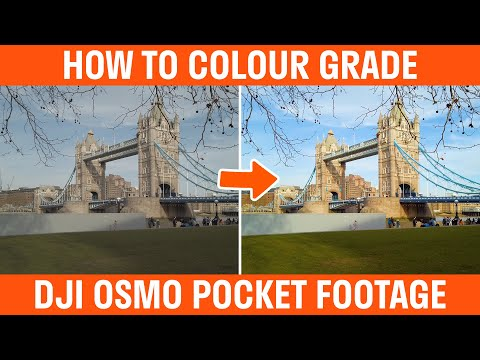 How To Colour Grade DJI Osmo Pocket Footage