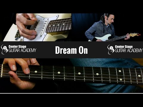 How To Play Dream On by Aerosmith Complete with Solo Guitar Lesson