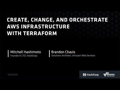 Create, Change, and Orchestrate AWS Infrastructure with Terraform