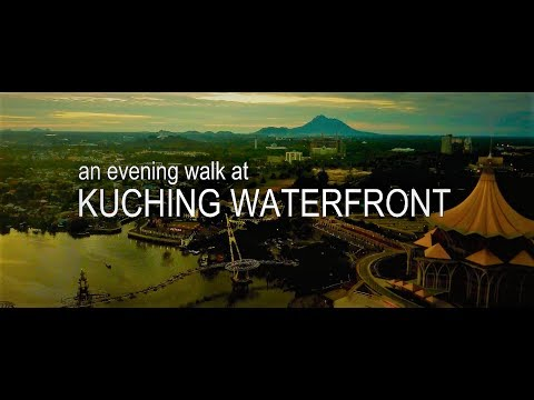 An Evening Walk At Kuching Waterfront