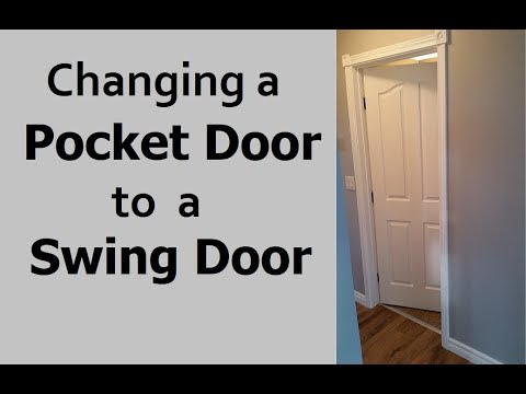 Replacing Pocket Door With Swing Door Youtube
