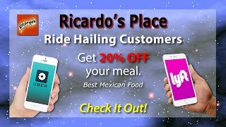 Uber or Lyft: Best Mexican food near me Ricardo's Place San Juan Capistrano 92675