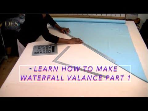 learn how to make waterfall valance part 1 youtube. Black Bedroom Furniture Sets. Home Design Ideas