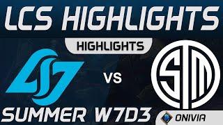 CLG vs TSM Highlights LCS Summer 2020 W7D3 Counter Logic Gaming vs Team SoloMid by Onivia
