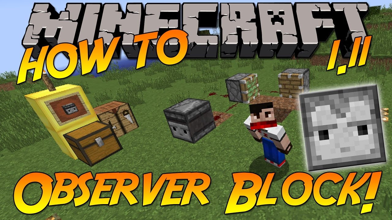 How To Craft Use The Observer Block Minecraft 1 11 Youtube