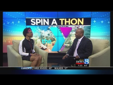 Spin-a-thon event at the YMCA