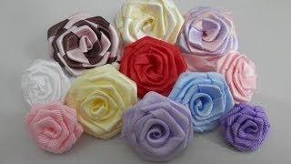 Rosa de fita por Alinne Marques
