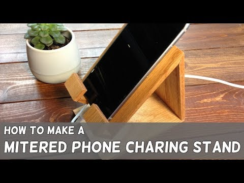 DIY Red Oak Phone Charging Stand - Easy Woodworking Projects