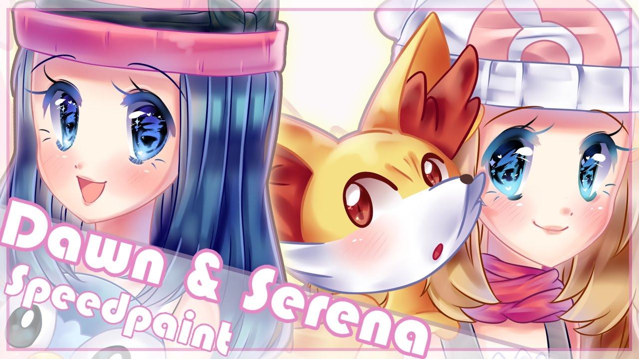 Pokemon X and Y yvonne/serena [speedpaint] - YouTube
