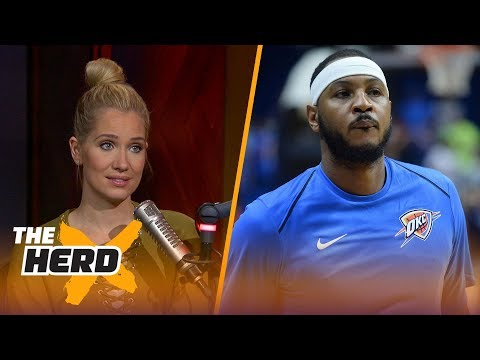 Melo says Phil was willing to trade him 'for a bag of chips' - Krisitne and Colin react | THE HERD