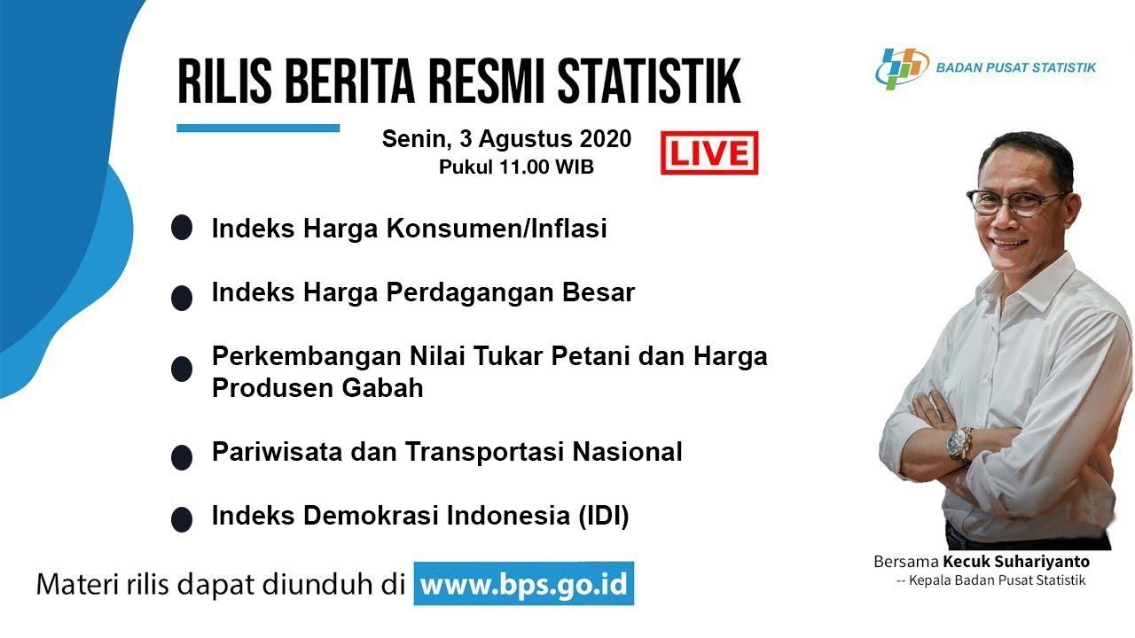 Download Rilis Berita Resmi Statistik 3 Agustus 2020