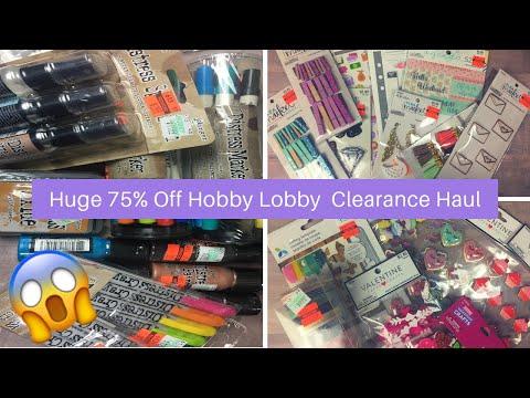 Huge Hobby Lobby Clearance Haul| 75% off Tim Holtz!