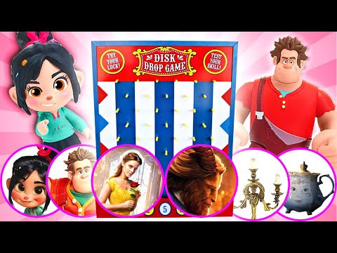 Beauty And The Beast & Ralph Breaks The Internet Disk Drop Game! W/ Belle, Ralph & Vanellope