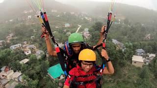 Paragliding in Dharmshala over 1000m above in 4K 360