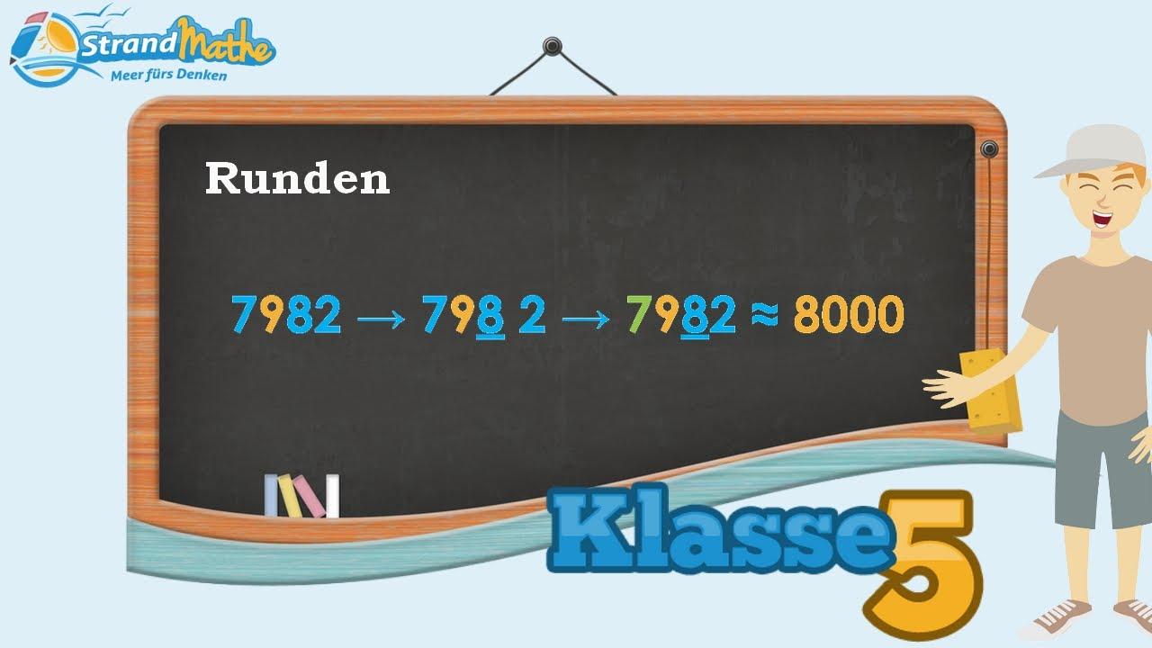 Zahlen runden Erklärung || Klasse 5 ☆ Wissen - YouTube