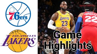 76ers vs Lakers Highlights | NBA March 3