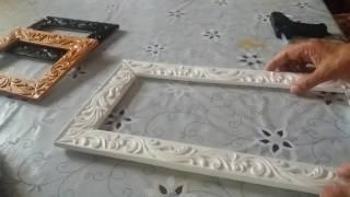 Как сделать рамку из галтелей, пенопласта