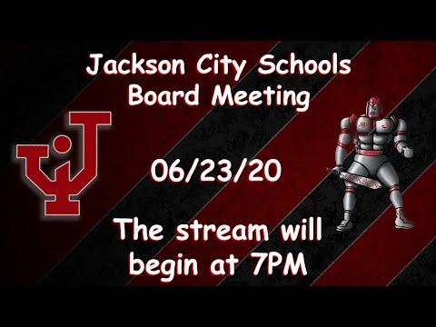Jackson City Schools 06/23/2020 Board Meeting